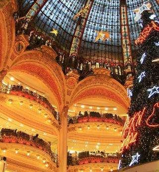 Shopping de Noël et Vitrines à Paris