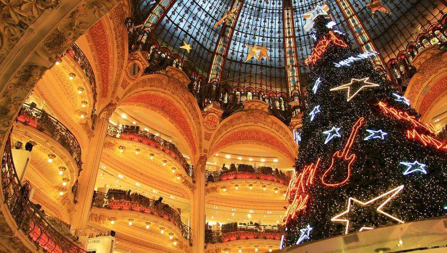 Shopping de Noël et Vitrines à Paris